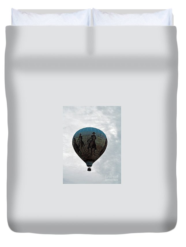 Hot Air Balloons Duvet Cover featuring the photograph Air Cowboy by Jamie Smith