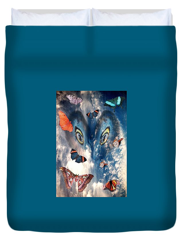 Air Duvet Cover featuring the digital art Air by Lisa Yount