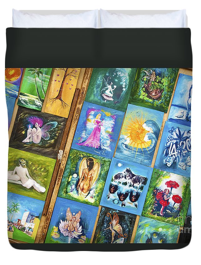 Fantasy Duvet Cover featuring the photograph Fantasy On Display by David Zanzinger
