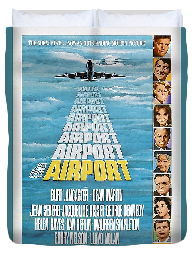 1970 Duvet Cover featuring the photograph Airport by Movie Poster Prints