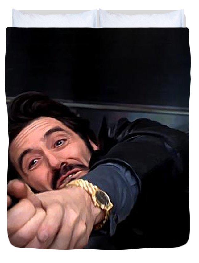 Al Pacino Duvet Cover featuring the digital art Al Pacino @ Carlito's Way by Gabriel T Toro