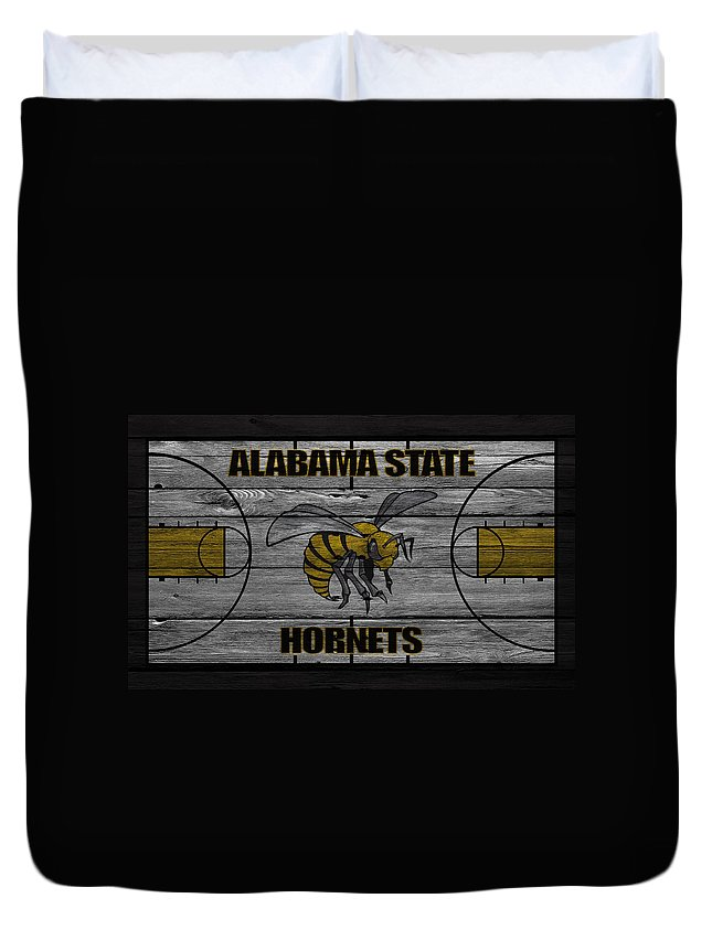 Hornets Duvet Cover featuring the photograph Alabama State Hornets by Joe Hamilton