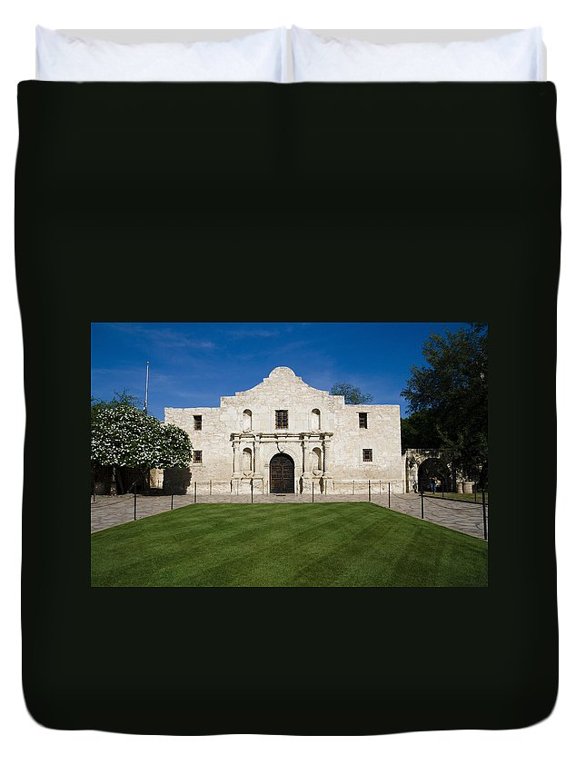 Alamo Duvet Cover featuring the photograph Alamo by Alexey Stiop