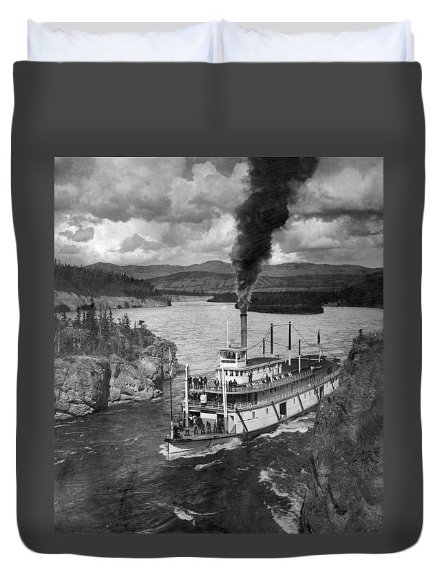 1920 Duvet Cover featuring the photograph Alaska Steamboat, 1920 by Granger