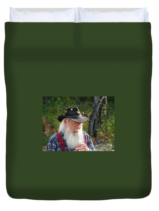 Man Duvet Cover featuring the photograph Alaskan Miner by Lew Davis