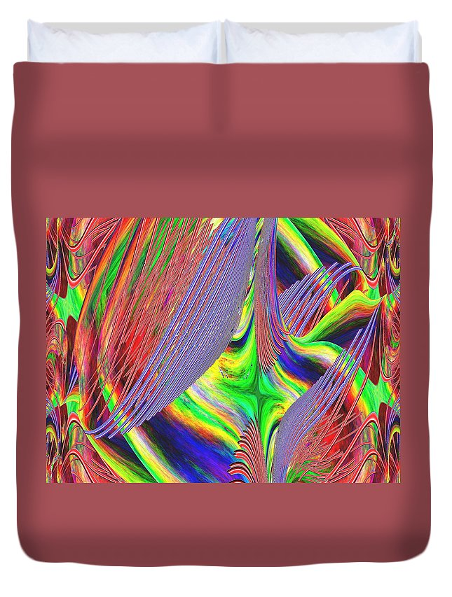 Abstract Duvet Cover featuring the digital art Albatross Dreamscape by Tim Allen