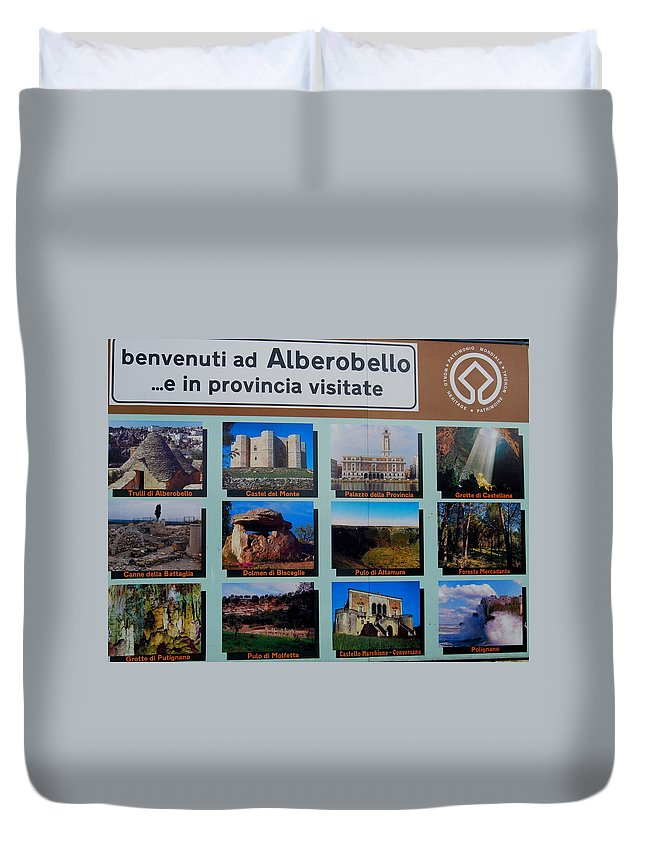 Italy Duvet Cover featuring the photograph Alberobello Italy by Caroline Stella