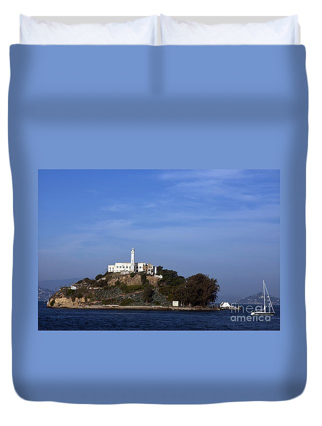 Alcatraz Duvet Cover featuring the photograph Alcatraz Island San Francisco by Jason O Watson