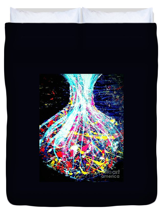 Chemistry Duvet Cover featuring the painting Chemistry by Jacqueline McReynolds