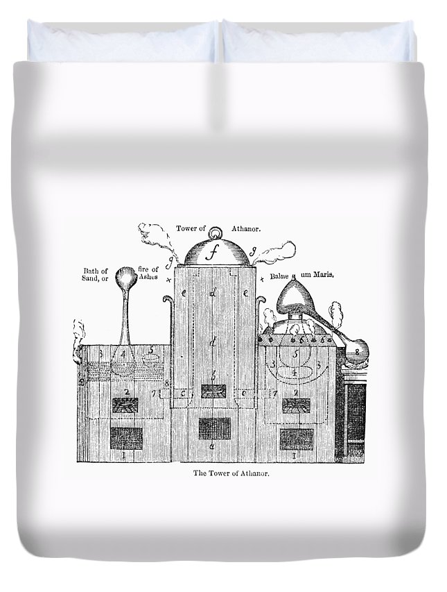 19th Century Duvet Cover featuring the photograph Alchemy: Tower Of Athanor by Granger
