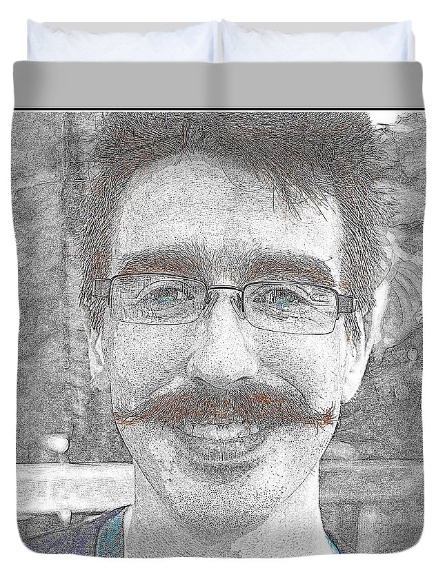 Alex Duvet Cover featuring the photograph Alex by Kathy Barney