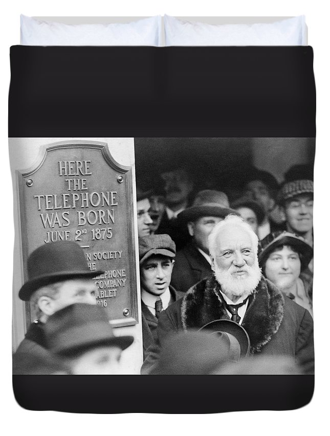 1910s Duvet Cover featuring the photograph Alexander Graham Bell by Richard Sears