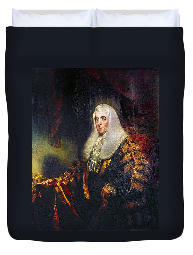 1785 Duvet Cover featuring the painting Alexander Wedderburn(1733-1805) by Granger