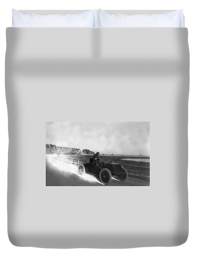 1901 Duvet Cover featuring the photograph Alexander Winton (1860-1932) by Granger