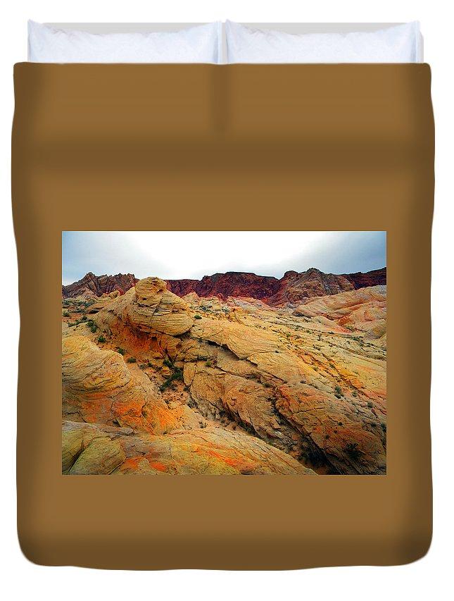 Alien Landscape Duvet Cover featuring the photograph Alien Landscape by Frank Wilson