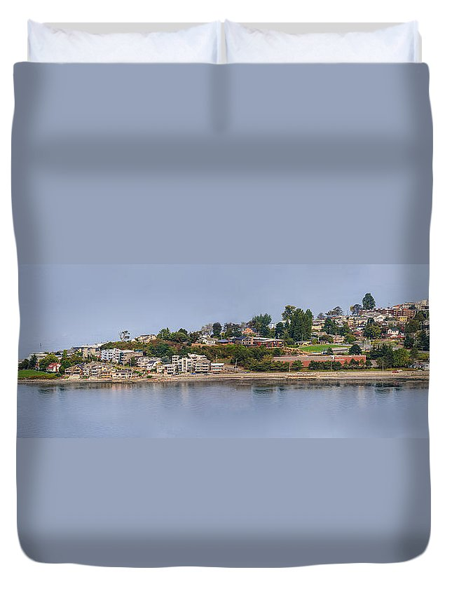 Seattle Duvet Cover featuring the photograph Alki Point by Mike Penney