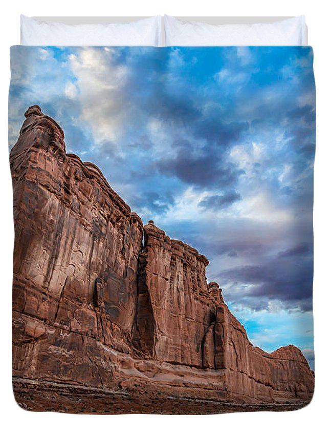 Sunset Duvet Cover featuring the photograph All Aboard by Michael Ver Sprill