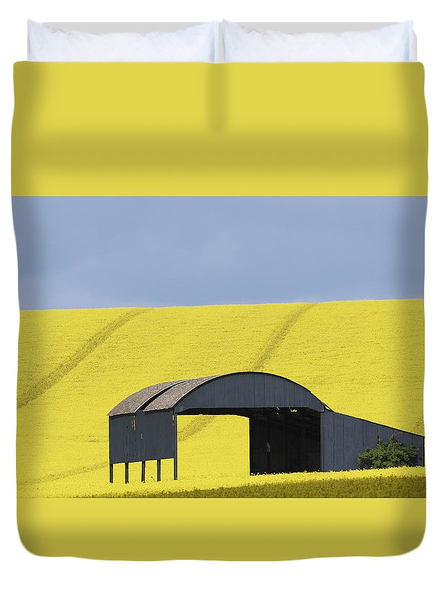 Barn Duvet Cover featuring the photograph All Across The Land 4 by Wendy Wilton