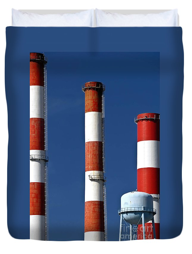 Factory Duvet Cover featuring the photograph All American Industry by Amy Cicconi
