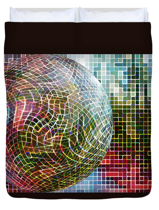 Digital Art Duvet Cover featuring the photograph All Balled Up by Regina Williams