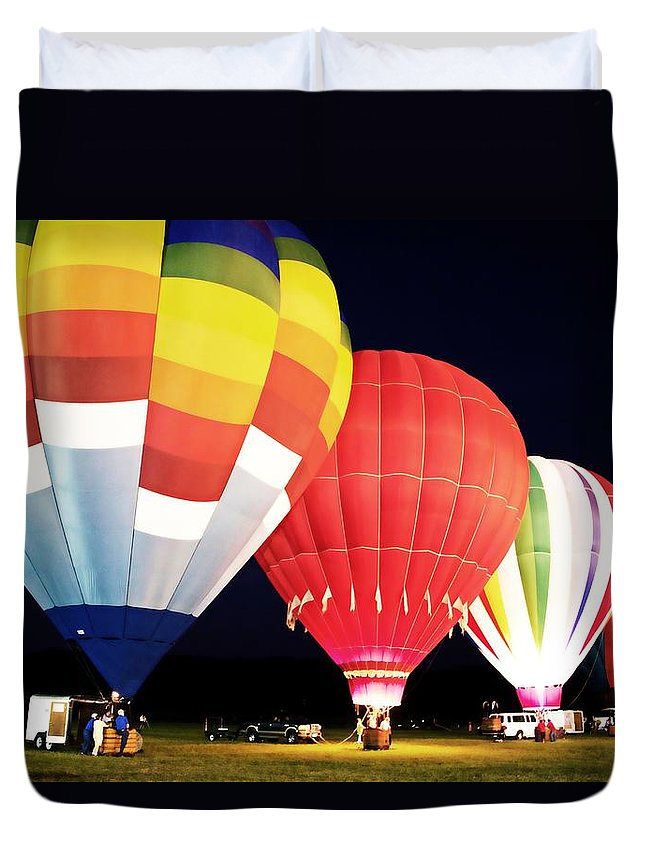Hot Air Balloons Duvet Cover featuring the photograph All Blown Up by Alice Gipson