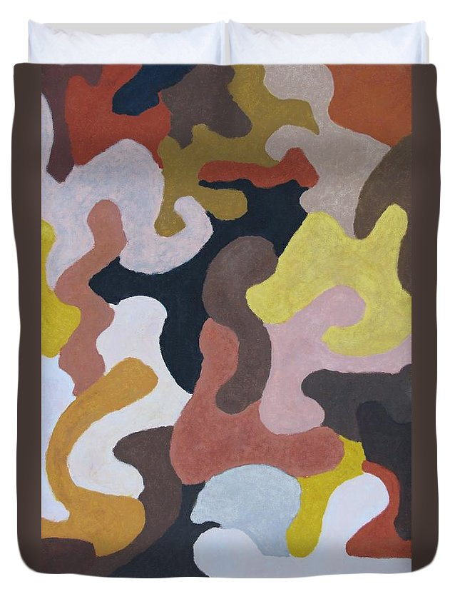 Abstract Duvet Cover featuring the painting All God Children by William Bryant
