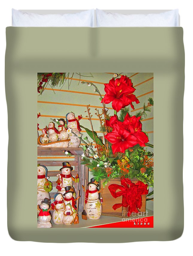All Good Wishes For Christmas Duvet Cover featuring the photograph All Good Wishes For Christmas by Liane Wright