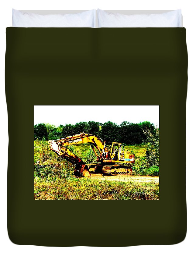 Dozer Duvet Cover featuring the photograph All Ready For Duty IIi by Kip DeVore
