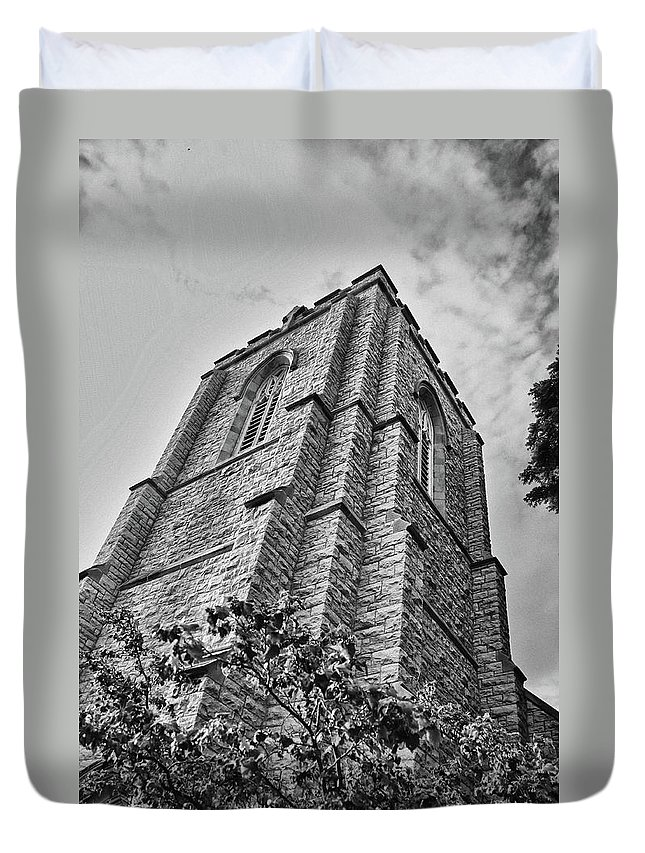 Buildings Duvet Cover featuring the photograph All Saints 8353 by Guy Whiteley