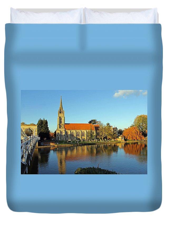 All Saints Church Duvet Cover featuring the photograph All Saints Church Marlow by Tony Murtagh