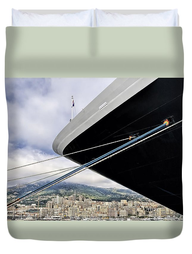 Architecture Duvet Cover featuring the photograph Tied Up by Maria Coulson