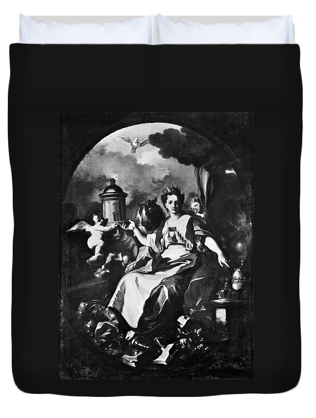 18th Century Duvet Cover featuring the painting Allegory Of Europe by Granger