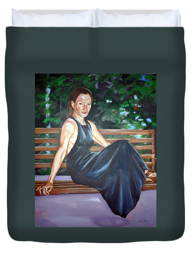 Sexy Duvet Cover featuring the painting Allison Two by Bryan Bustard