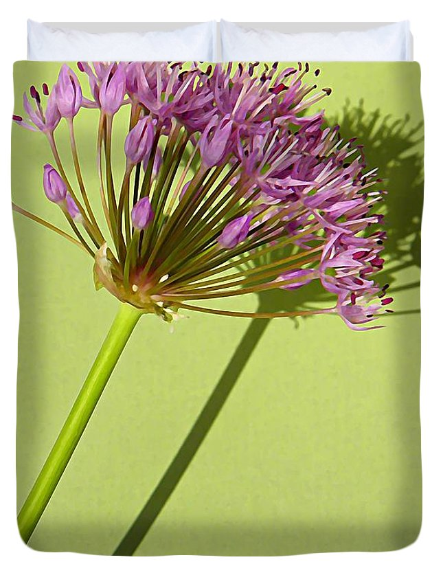 Allium Duvet Cover featuring the photograph Allium by Chris Berry
