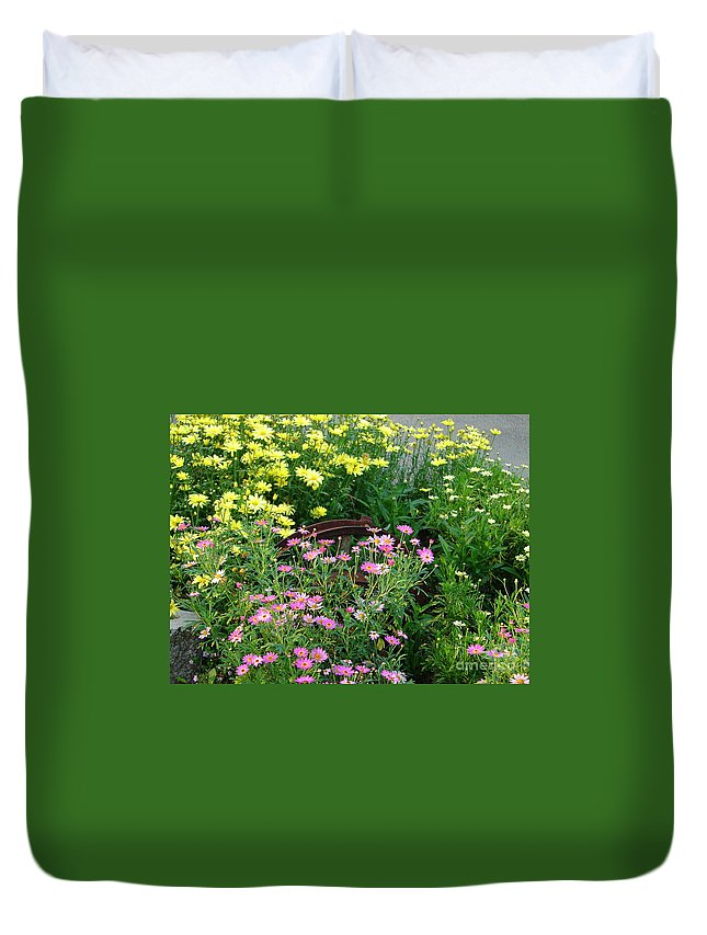 Flower Duvet Cover featuring the photograph Almost Hidden by Lew Davis