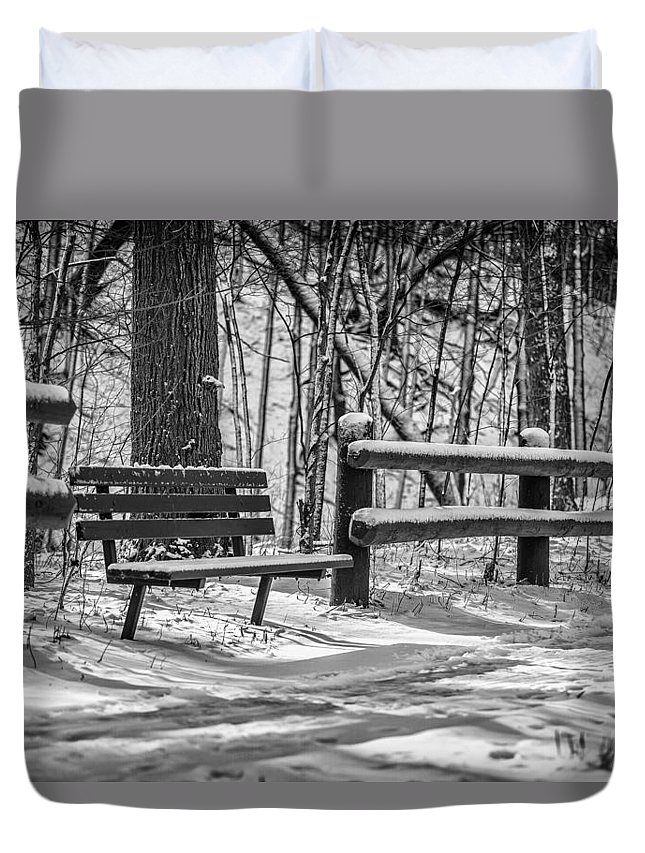 Www.cjschmit.com Duvet Cover featuring the photograph Alone In Your Thoughts by CJ Schmit