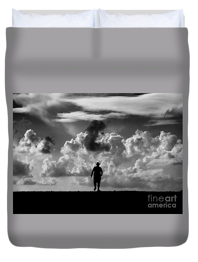 Active Duvet Cover featuring the photograph Alone by Stelios Kleanthous