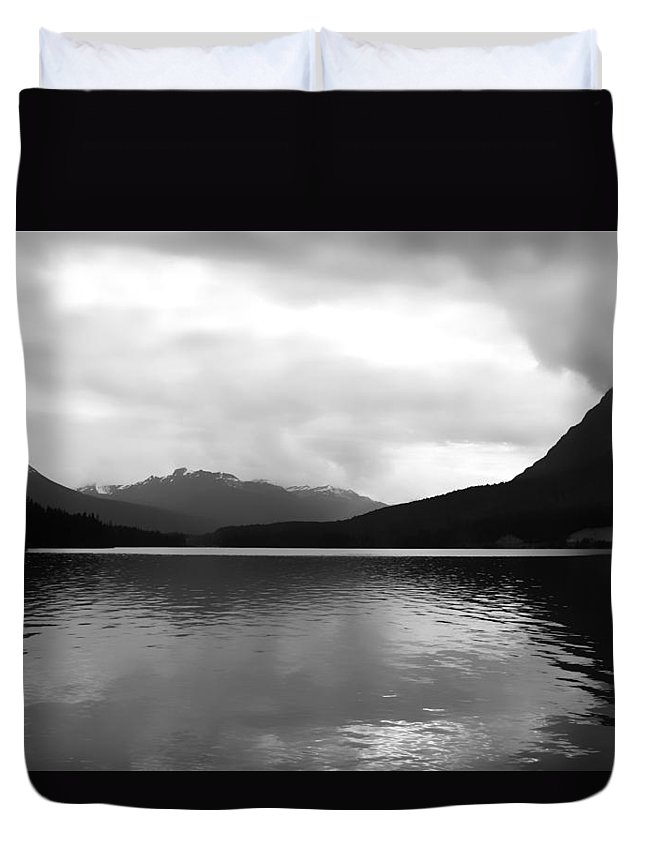 Mountains Duvet Cover featuring the photograph Alone With One by The Artist Project