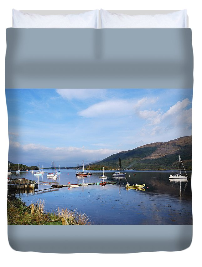 Along Loch Leven Ii Duvet Cover featuring the photograph Along Loch Leven 2 by Wendy Wilton