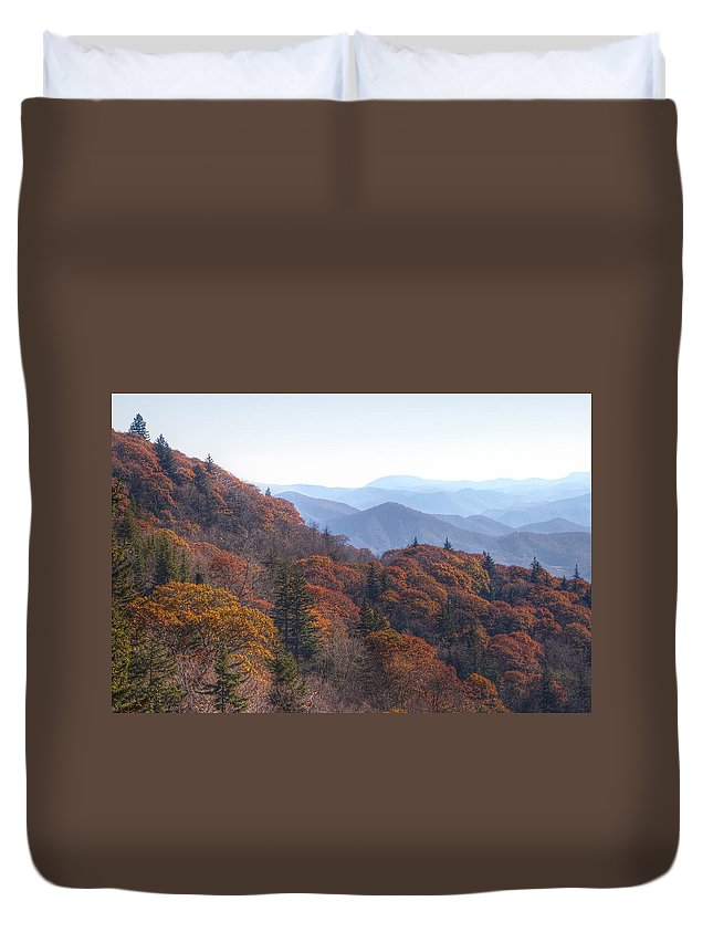 Fall Duvet Cover featuring the photograph Along The Blue Ridge Parkway N C by Cheryl Birkhead