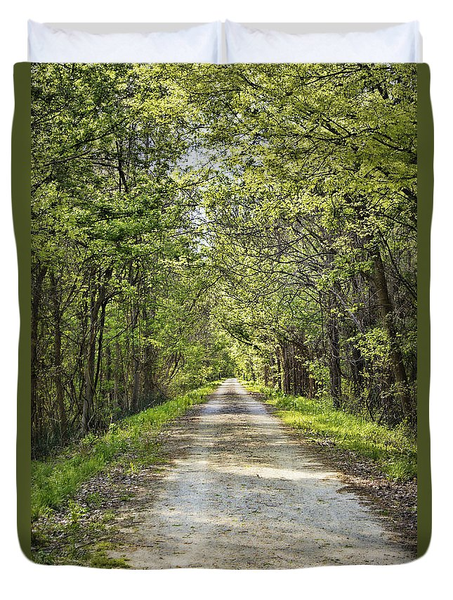 Katy Duvet Cover featuring the photograph Along The Katy Trail by Cricket Hackmann