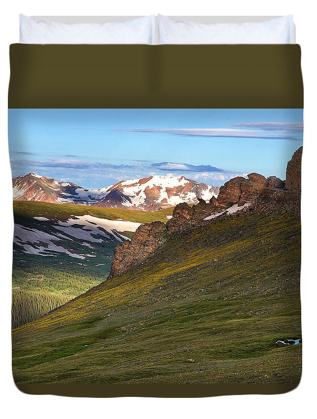 Rmnp Duvet Cover featuring the photograph Along Trail Ridge Road by Ronda Kimbrow