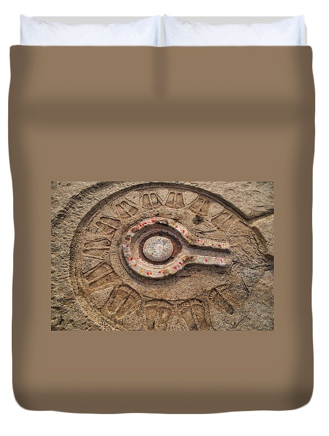 Altar Duvet Cover featuring the digital art Altar by Carol Ailles
