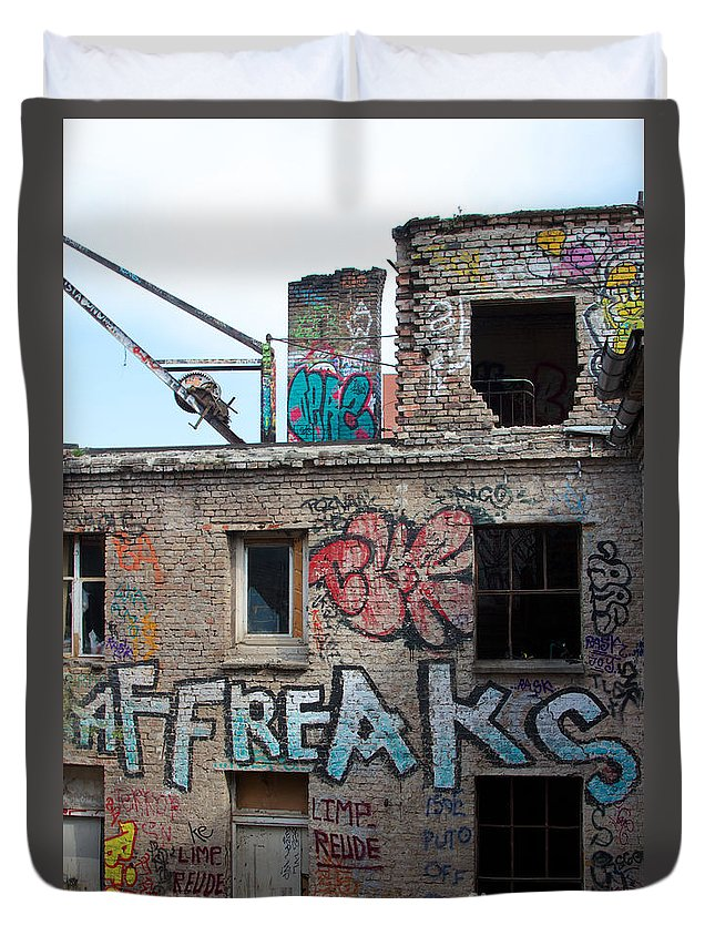 Abandoned Duvet Cover featuring the photograph Alte Eisfabrik Berlin by Jannis Werner