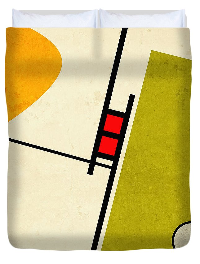 Alternate Approach Duvet Cover featuring the digital art Alternate Approach by Richard Rizzo