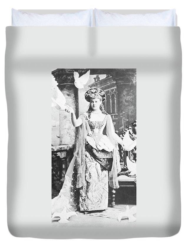 -organization- Duvet Cover featuring the photograph Alva Vanderbilt (1853-1933) by Granger