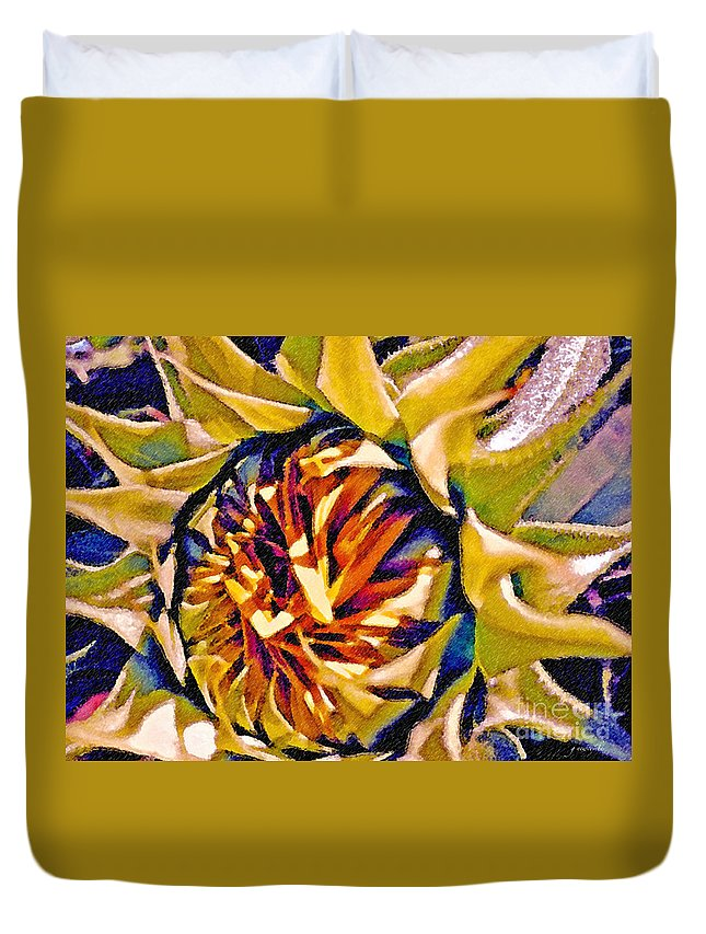 Sunflower Duvet Cover featuring the photograph Always Summer by Gwyn Newcombe