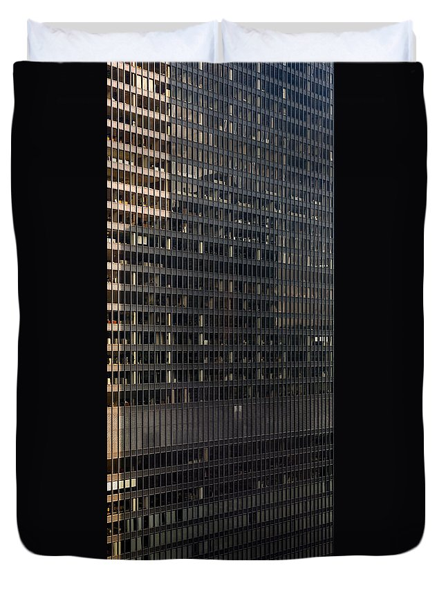 Ibm Duvet Cover featuring the photograph A M A Plaza Steel by Steve Gadomski