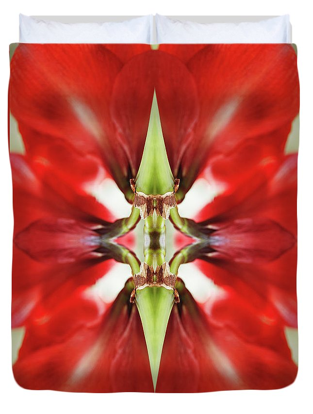 Tranquility Duvet Cover featuring the photograph Amaryllis Flower by Silvia Otte