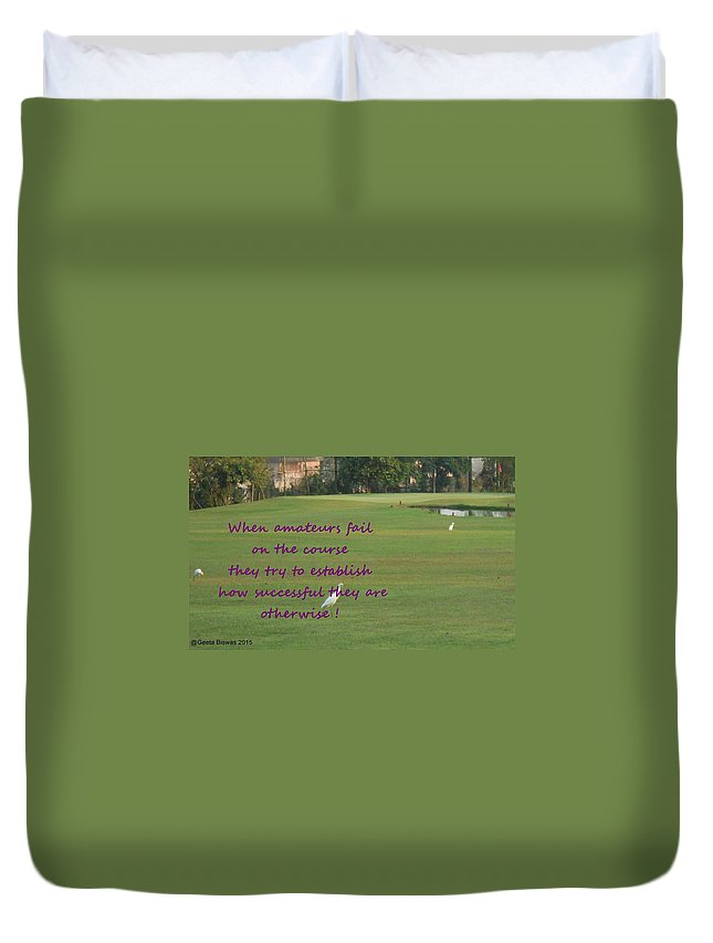 Golf Duvet Cover featuring the photograph Amateur Golf by Geeta Biswas